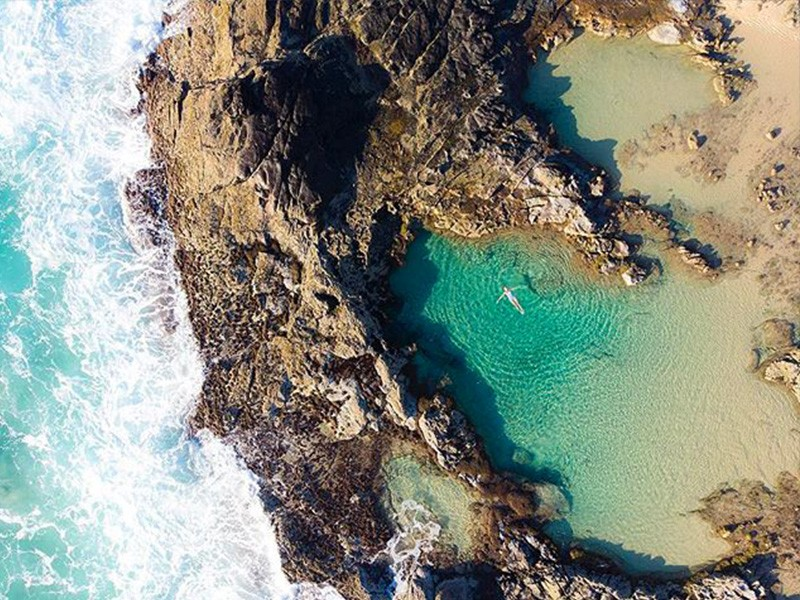 Champagne Pools | Image by @thirdeyeguide in collaboration with @eurongbeachresort | 15 Photos That Will Make You Want to Visit Fraser Island | Discover Queensland