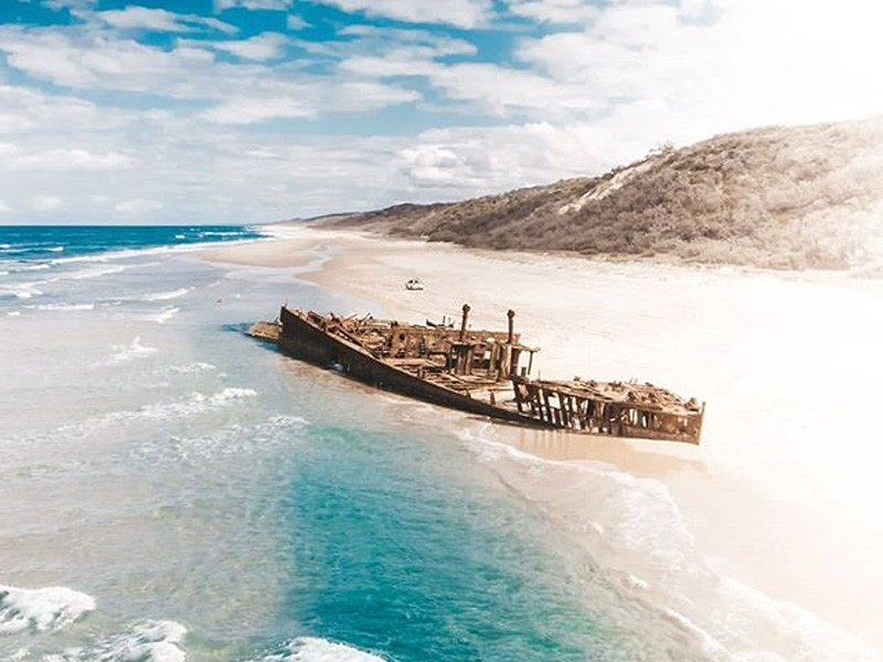 Maheno Shipwreck | Image by @guillaumecornetfilms | 15 Photos That Will Make You Want to Visit Fraser Island | Discover Queensland