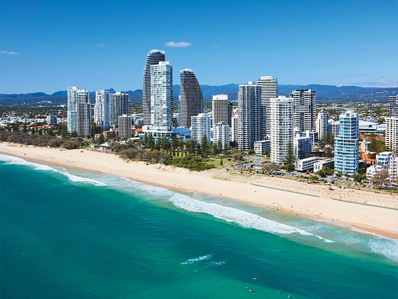 Broadbeach Beach Aerial Shot | Breakfree Diamond Beach: Location, Location, Location! | Discover Queensland