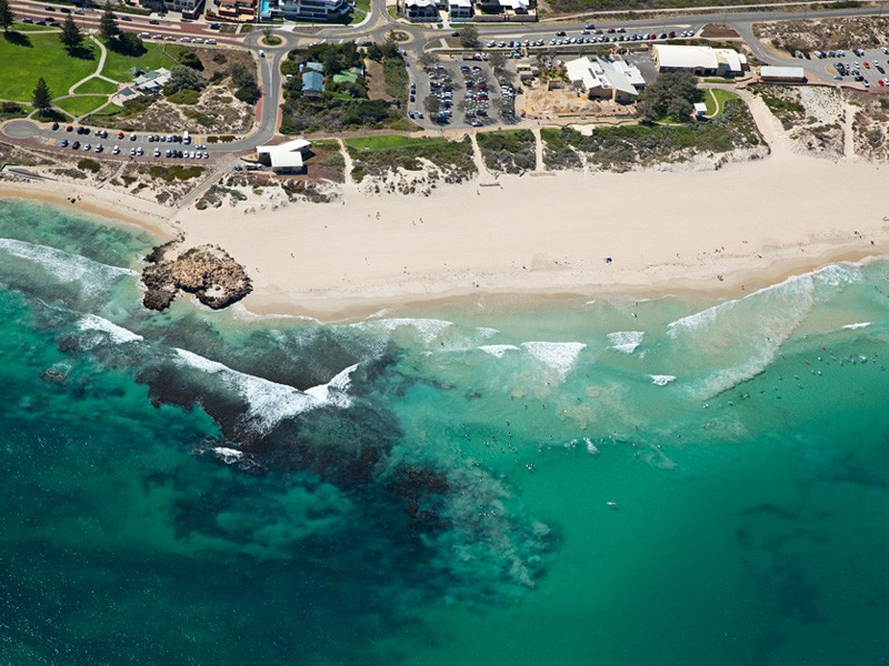 Birdseye View of Trigg Beach | Image via bvpvisuals.com | How to Live Like a Local on Holidays in Scarborough | Discover WA