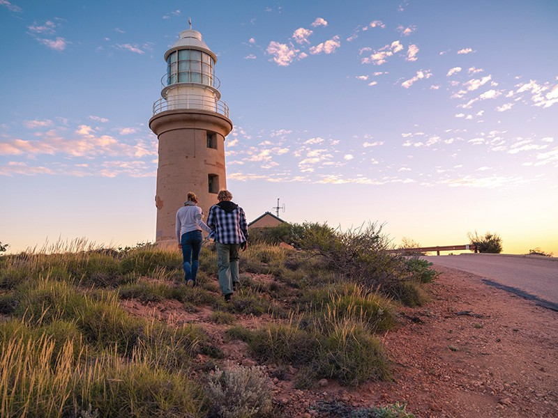 Sunset a Vlaming Head Lighthouse | Image via Tourism Western Australia | 7 Ways to Enjoy the Water in Exmouth | Discover Western Australia