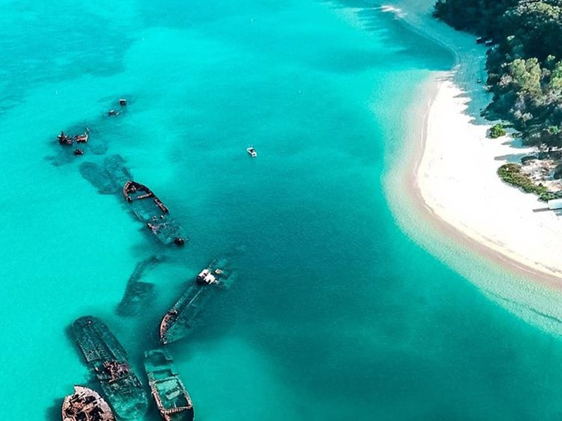 Snorkel the Wrecks   Image by @jwrights via Instagram   Top 30 Things to do at Tangalooma Island Resort on Moreton Island