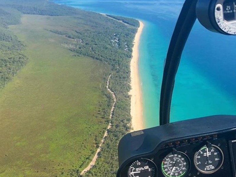Heli Tour | Image by @tangaloomaheli | Top 30 Things to do at Tangalooma Island Resort on Moreton Island | Discover Queensland