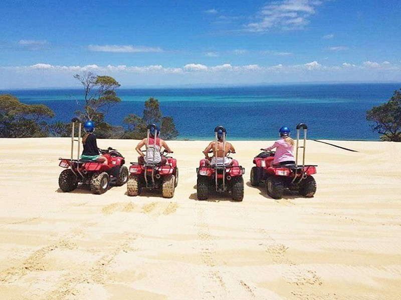 Quad Biking | Image by @meaganlyelle | Top 30 Things to do at Tangalooma Island Resort on Moreton Island | Discover Queensland