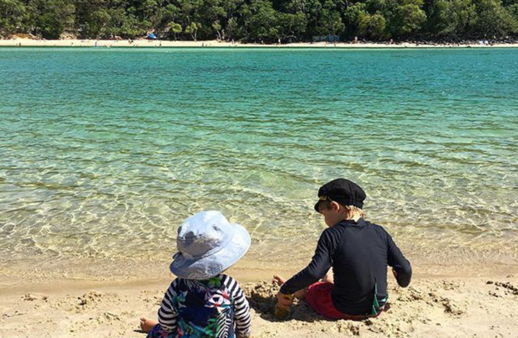 Tallebudgera Creek by @jodieswholesomelife | Best Gold Coast Beaches for Families with Young Children | Discover Queensland