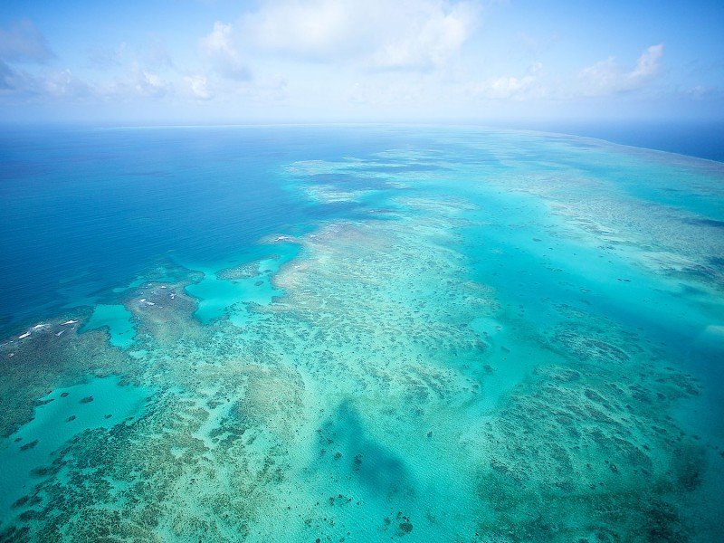Aerial of The Great Barrier Reef | Scuba Dive the Great Barrier Reef | Image via TEQ