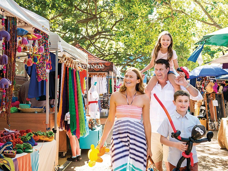 Eumundi Markets | Top 5 new Things to do on the Sunny Coast | Image via TEQ