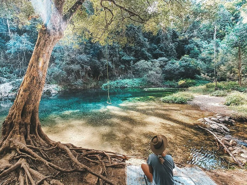 @oceanchicka capturing the magic of Booloumba Creek | Conondale Things To Do | Discover Queensland | Sunshine Coast Hinterland Highlights Brisbane Road Trip
