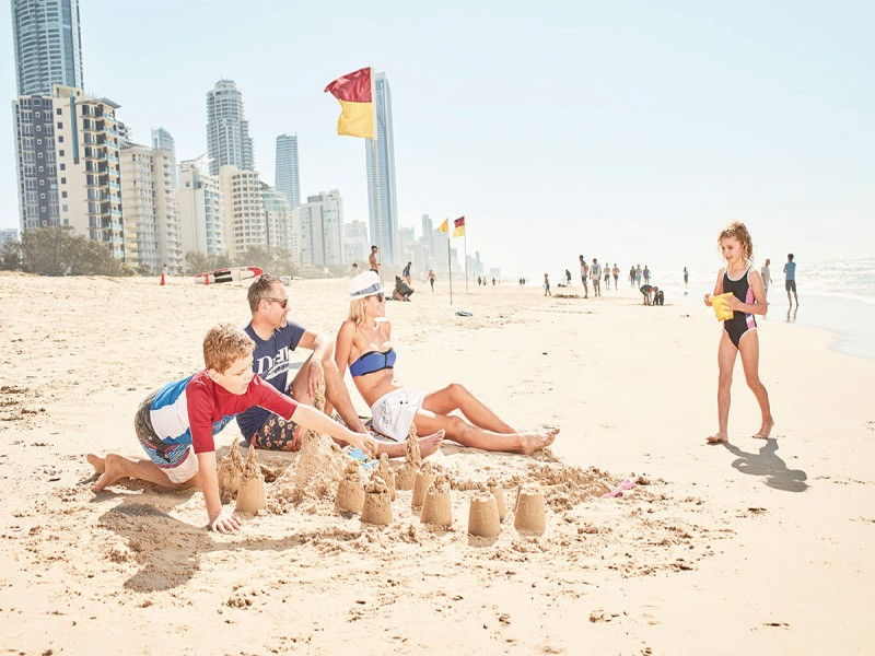 Gold Coast Family on Surfers Paradise Beach  | Discover Queensland | Paradise Resort: Heaven for Kids Paradise for Parents | Best Gold Coast Family Holidays