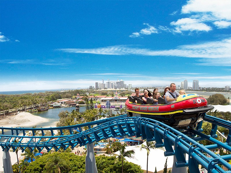 Storm Coaster at Sea World Gold Coast - Discover Queensland