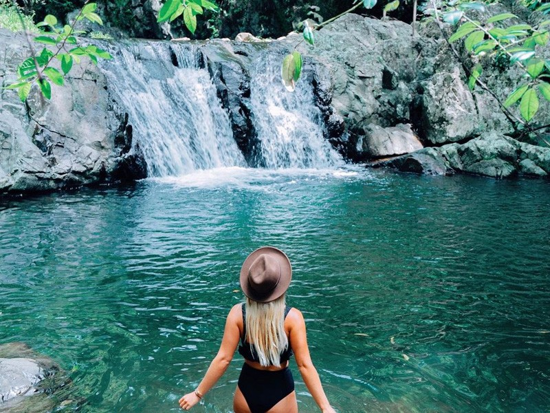 Cougal Cascades | Image by @kendallbaggerly via instagram | Queensland Swimming Holes to dive into: Secret Spots & Old Faithfuls