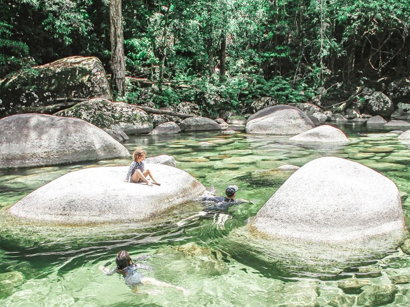 Mossman Gorge | Image by @little.gypsies via instagram | Queensland Swimming Holes to dive into: Secret Spots & Old Faithfuls