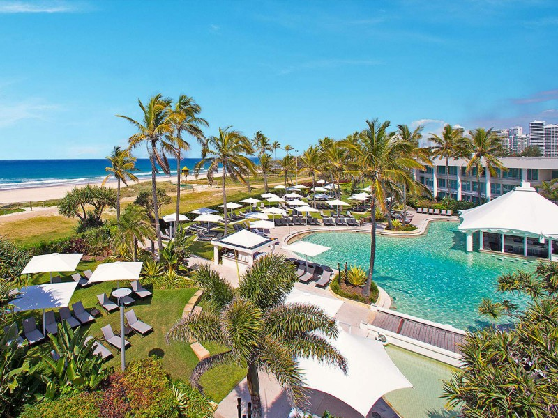Sheraton Grand Mirage Resort Absolute Beachfront Pool | Dive Into the Gold Coast's Best Resort Pools | Discover Queensland