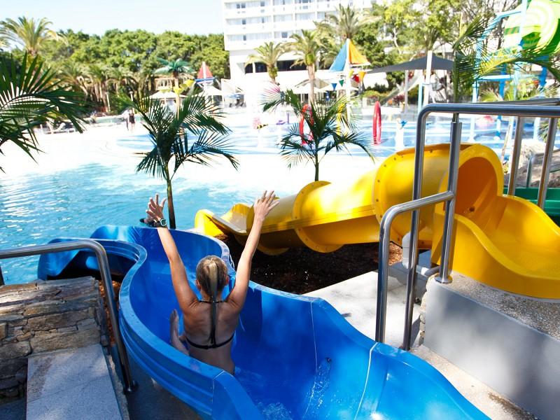 RACV Royal Pines Resort Waterslides | | Dive Into the Gold Coast's Best Resort Pools | Discover Queensland