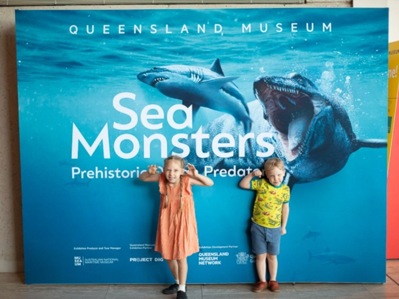 Queensland Museum - Sea Monsters: Prehistoric Ocean Predators exhibit | Things to do in Brisbane with Kids: Your Tech-Free Brisbane Itinerary | Discover Queensland