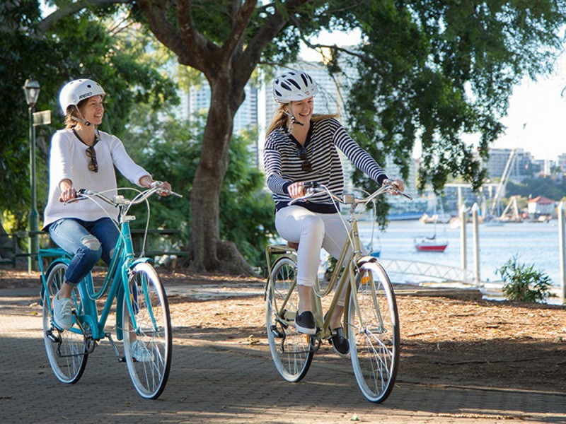 Bike Riding Riverside | Things to do in Brisbane with Kids: Your Tech-Free Brisbane Itinerary | Discover Queensland