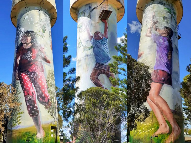 Monto Water Tower by @_thezookeeper and @DRAPL | Things to do in Monto: The Silo Art Trail | Discover Queensland