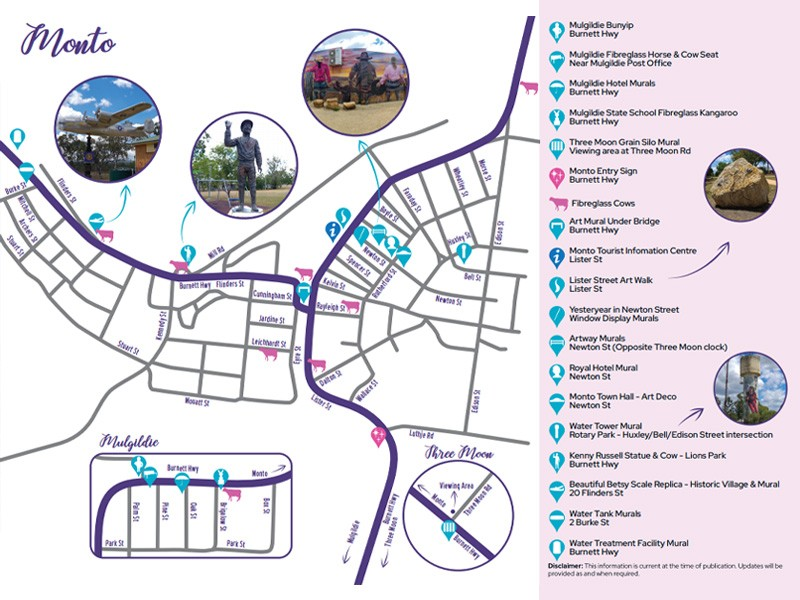 Monto Silo Art Trail Map Courtesy of Monto Magic Tourism Action Group | Things to do in Monto: The Silo Art Trail | Discover Queensland