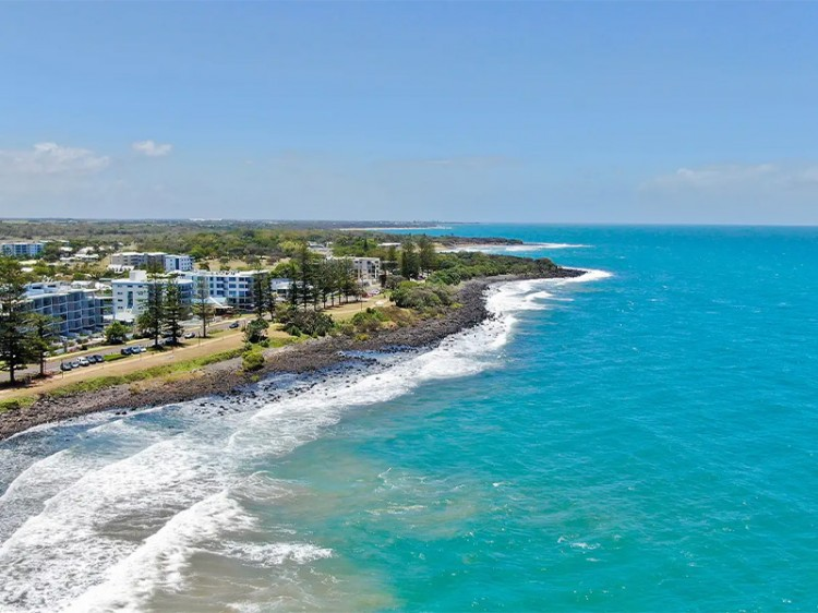 Aerial of The Point Resort Bargara | Discover Queensland