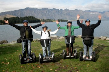 Segway On Q Tour No Hands Group Shot - Queenstown Holidays